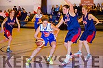 Team Garveys Amanda Brosnan and Falcons Edel Cadam at the National League Womens Basketball Division 1 Team Garveys Tralee V Longford Falcons at Mercy Mounthawk on Saturday