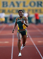 Carla Grace of Baylor won the 100m in 11.54sec.  @ the Michael Johnson Classic held @ Baylor Univ.,Waco,Texas on Saturday, April 21, 2007. Photo by Errol Anderson, The Sporting Image.
