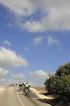 Israel, Shephelah, bike riders on Beth Guvrin-Beth Nir road