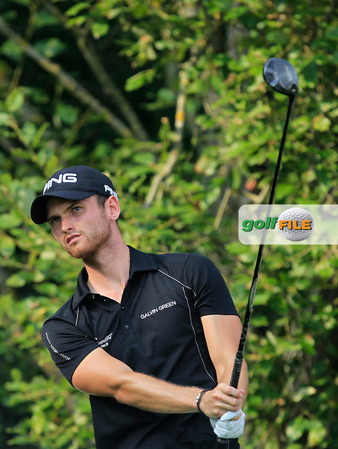 Daniel Gavins (ENG) on the 1st tee during Round 1 of the Made in Denmark 2016 at the Himmerland Golf Resort, Farso, Denmark on Thursday 25th August 2016.<br /> Picture:  Thos Caffrey / www.golffile.ie<br /> <br /> All photos usage must carry mandatory copyright credit   (&copy; Golffile | Thos Caffrey)