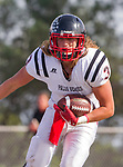 Palos Verdes, CA 11/03/17 - Will Boss (Palos Verdes #3) in action during the Palos Verdes vs Palos Verdes Peninsula CIF Varsity football game at Peninsula High School for the battle of the hill.