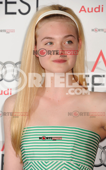 Elle Fanning arrives at the 'Ginger And Rosa' special screening during AFI Fest 2012 at Grauman's Chinese Theatre on November 7, 2012 in Hollywood, California. .<br /> (Photo: BlueStar/OIC/NortePhoto