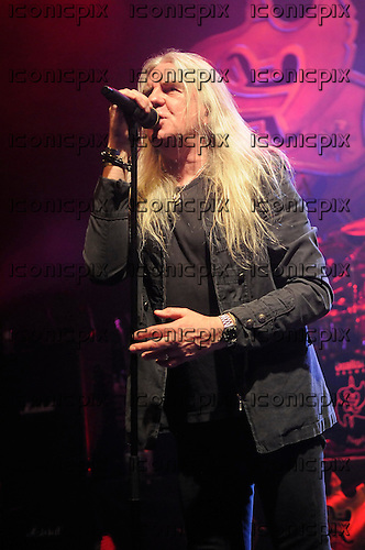 SAXON - vocalist Biff Byford - performing live at the Empire in Shepherds Bush London UK - 27 Aug 2013.  Photo credit: George Chin/IconicPix