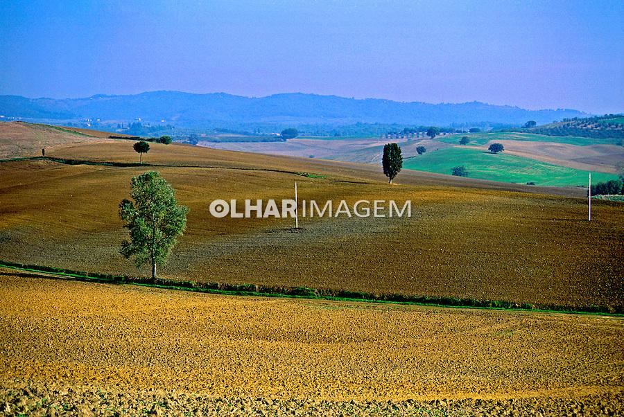 Campo agrícola na Toscana. Itália. 1996. Foto de Juca Martins.
