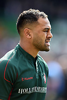 Telusa Veainu of Leicester Tigers looks on during the pre-match warm-up. Aviva Premiership match, between Leicester Tigers and Wasps on March 25, 2018 at Welford Road in Leicester, England. Photo by: Patrick Khachfe / JMP
