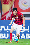 Guangzhou Defender Li Xuepeng in action during the AFC Champions League 2017 Round of 16 match between Guangzhou Evergrande FC (CHN) vs Kashima Antlers (JPN) at the Tianhe Stadium on 23 May 2017 in Guangzhou, China. (Photo by Power Sport Images/Getty Images)