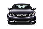 Car photography straight front view of a 2016 Honda Accord LX-S 2 Door Coupe Front View