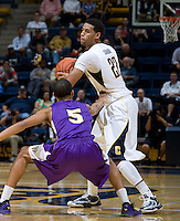 Allen Crabbe of California in action during the game against SFSU at Haas Paviliion in Berkeley, California on November 6th, 2012.  California defeated San Francisco State, 89-80.