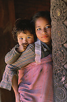 Sisters in Bhaktapur, Nepal 1990