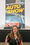 Artist TRINA MERRY, and her Trina Merry Studios, created a piece of living art, where models' bodies are painted and then positioned to resemble a red car, on view at the Media Party after the first day of the New York International Auto Show 2016, at the Jacob Javits Center. The artwork recreated the NYIAS poster. This was Press Preview Day one of NYIAS, and the Trade Show will be open to the public for ten days, March 25th through April 3rd.