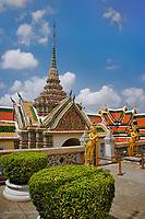 Ornate structure, Wat Phra Kaeo, Bangkok, Thailand