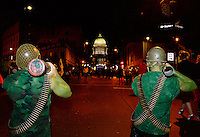 Breaking News: Military destroys State Capitol during Freak Fest during Freakfest 2015 on State Street in Madison, Wisconsin