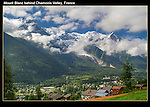 France, Chamonix.  <br /> The birthplace of modern mountaineering and still the place to climb and ski to the extreme.<br /> Mt Blanc and the Bosson Glacier.