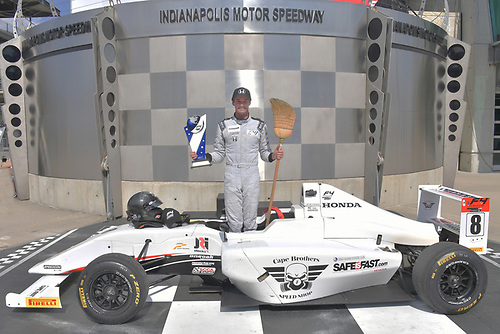 2017 F4 US Championship<br /> Rounds 4-5-6<br /> Indianapolis Motor Speedway, Speedway, IN, USA<br /> Sunday 11 June 2017<br /> Kyle Kirkwood makes clean sweep of all 3 races during the Indy weekend<br /> World Copyright: Dan R. Boyd<br /> LAT Images