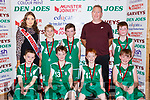 The Novihill NS team who played Gaelscoil Aogain in the Junior Boys NS final at the St Mary's Basketball blitz in Castleisland on Sunday front row l-r: Sean Martin, Paddy Lucid, Sam Boyle, Conor Lynch, Back row: Shauna Ahern Miss Basketball, Michael Quirke, Cian Guilroy, James and Stephen McCarthy