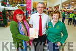 Emma Byrne, Derek Rusk and Kit Ryan at the Manor West Shopping Centre's Annual Christmas Food & Craft Fair on Saturday.
