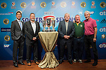 (L-R) Wayne Fong, Head of Corporate Affairs of Citi, Chris Plowman, Tournament Director of HKFC Citi Soccer Sevens, Kevin Keegan, former English football player, Terry McDermott, former Liverpool football player, and Steve Dale, chairman of Wallsend Boys Club, attend the press conference for the HKFC Citi Soccer Sevens Hong Kong 2017 at the Hong Kong Football Club on 07 February 2017 in Hong Kong, China. Photo by Victor Fraile / Power Sport Images