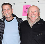 Terrence McNally with his husband Tom Kirdahy with Former congressman Barney Frank backstage after he makes his stage debut in 'Fiorello!', the opening musical of New York City Center's Encores! 20th Anniversary season on 2/2/2013