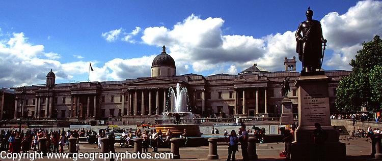 National gallery, Trafalgar Square, London, England