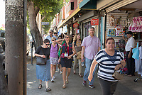 "Food conference attendees take the Mexican food tour of Boyle Heights.<br /> Occidental College hosts the Oxy Food Conference, an annual meeting and conference for the Agriculture, Food and Human Values Society (AFHVS)/Association for the Study of Food and Society (ASFS). The event ran from June 14-17, 2017 and was organized by Oxy associate professor of sociology John Lang. This was the first time Oxy hosted this conference.<br /> More than 500 food scholars converged for one of the discipline's largest international conferences and the chance to discuss everything from sustainable agricultural and fisheries practices to the cultural significance of Basque-American ""picon punch.""<br /> (Photo by Marc Campos, Occidental College Photographer)"