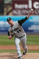 Fort Wayne TinCaps pitcher Logan Allen (26) delivers a pitch to the plate against the West Michigan Michigan Whitecaps during the Midwest League baseball game on April 26, 2017 at Fifth Third Ballpark in Comstock Park, Michigan. West Michigan defeated Fort Wayne 8-2. (Andrew Woolley/Four Seam Images)