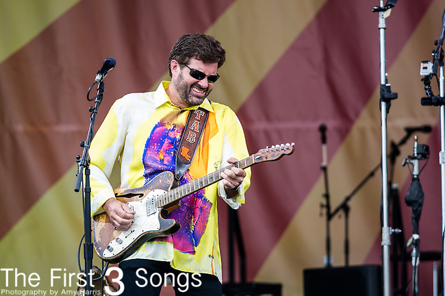 Tab Benoit performs during the New Orleans Jazz & Heritage Festival in New Orleans, LA.