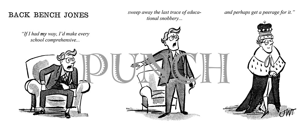 Wondrous Back Bench Jones On Education Punch Magazine Cartoon Archive Squirreltailoven Fun Painted Chair Ideas Images Squirreltailovenorg