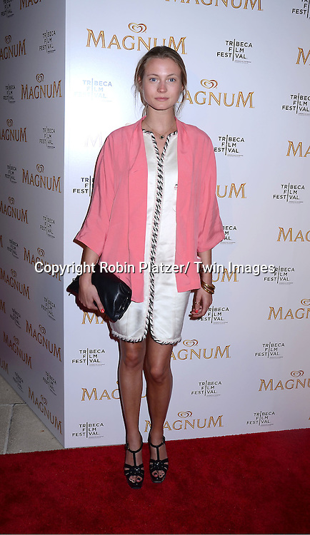 Charlotte di Calypso attending The premiere of the Magnum Ice Cream Film Series during the Tribeca Film Festival on April 21, 2011 at The IAC Building in New York City.