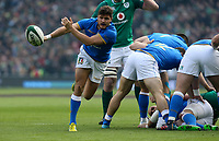 Saturday 10th February 2018 | Ireland vs Italy<br /> <br /> Marcello Violi during the Six Nations Rugby Championship match between Ireland and Italy at the Aviva Stadium, Lansdowne Road,  Dublin Ireland. Photo by John Dickson / DICKSONDIGITAL
