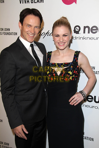 WEST HOLLYWOOD, CA - March 02: Stephen Moyer, Anna Paquin at the 22nd Annual Elton John AIDS Foundation Oscar Viewing Party Arrivals, Private Location, West Hollywood,  March 02, 2014. <br /> CAP/MPI/JO<br /> &copy;JO/MPI/Capital Pictures