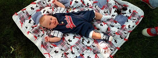 Noah Nelson on blanket<br />
