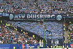 19.05.2019,  GER; 2. FBL, Hamburger SV vs MSV Duisburg ,DFL REGULATIONS PROHIBIT ANY USE OF PHOTOGRAPHS AS IMAGE SEQUENCES AND/OR QUASI-VIDEO, im Bild Feature die Fankurve der Duisburger vor dem Spiel Foto © nordphoto / Witke