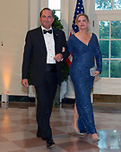 United States Secretary of Health and Human Services (HHS) Alex Azar and Jennifer Azar arrive for the State Dinner hosted by United States President Donald J. Trump and First lady Melania Trump in honor of Prime Minister Scott Morrison of Australia and his wife, Jenny Morrison, at the White House in Washington, DC on Friday, September 20, 2019.<br /> Credit: Ron Sachs / Pool via CNP