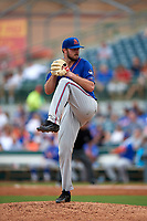 St. Lucie Mets starting pitcher Joe Shaw (34) delivers a pitch during a game against the Florida Fire Frogs on July 23, 2017 at Osceola County Stadium in Kissimmee, Florida.  St. Lucie defeated Florida 3-2.  (Mike Janes/Four Seam Images)