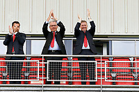 O's Chairman Nigel Travis and Vice Chairman Kent Teague clap the fans during Leyton Orient vs Maidstone United , Vanarama National League Football at the Matchroom Stadium on 12th August 2017