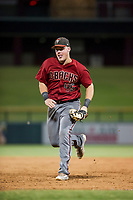 AZL Diamondbacks Jordan McArdle (45) hustles to first base to record a ground ball out against the AZL Cubs on August 11, 2017 at Sloan Park in Mesa, Arizona. AZL Cubs defeated the AZL Diamondbacks 7-3. (Zachary Lucy/Four Seam Images)