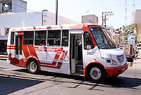 Public bus in downtown Mazatlan, Sinaloa, Mexico
