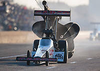 Oct 19, 2019; Ennis, TX, USA; NHRA top fuel driver Steve Torrence during qualifying for the Fall Nationals at the Texas Motorplex. Mandatory Credit: Mark J. Rebilas-USA TODAY Sports