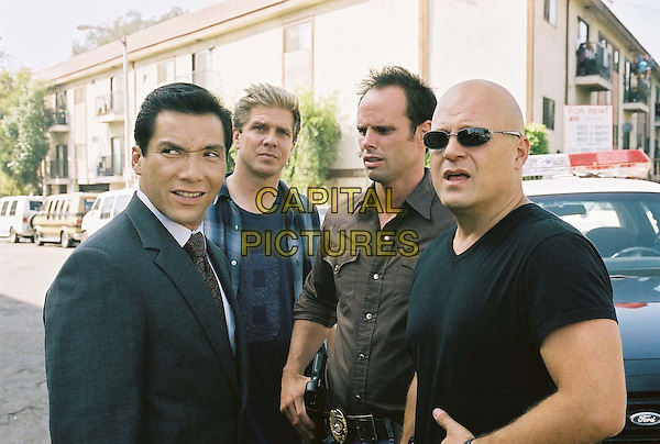 BENITO MARTINEZ,  DAVID REES SNELL, WALTON GOGGINS & MICHAEL CHIKLIS.in The Shield.Season 3.*Editorial Use Only*.www.capitalpictures.com.sales@capitalpictures.com.Supplied by Capital Pictures.