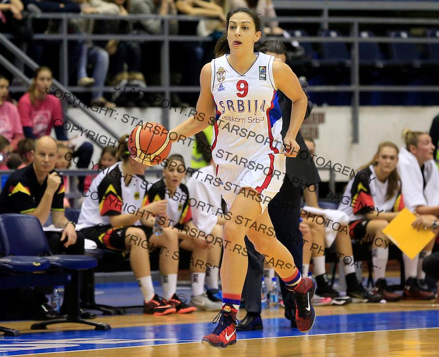 Kosarka- EuroBasket qualifiers 2017<br /> Srbija v Nemacka<br /> Jelena Milovanovic<br /> Beograd, 21.11.2015.<br /> foto: Srdjan Stevanovic/Starsportphoto&copy;