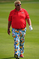John Daly (USA) on the 1st fairway during Round 1 of the D+D Real Czech Masters at the Albatross Golf Resort, Prague, Czech Rep. 31/08/2017<br /> Picture: Golffile | Thos Caffrey<br /> <br /> <br /> All photo usage must carry mandatory copyright credit     (&copy; Golffile | Thos Caffrey)