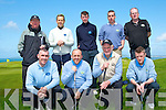 The Castlegregory Golf Club Team who played Tralee Golf Club Team in the Jimmy Bruen Sheild at Tralee Golf Club, on Sunday.; Front l-r: Declan O'Carroll, Colin O'Sullivan,Tom Moriarty and Francis Herlihy. Back l-r: Brian Neenan (Capt), Richard Greere, Fintan Herlihy, Pat Dooley and Mike Tagney.