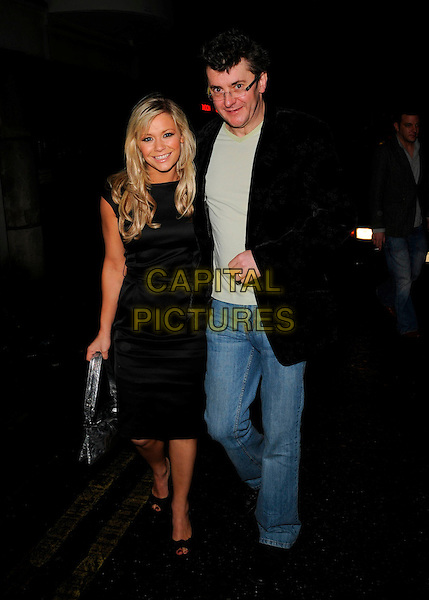 SUZANNE SHAW & JOE PASQUALE.At the BingoLotto Launch Party, .Soho Hotel, London, England, .29th February 2008..full length black dress.CAP/CAN.?Can Nguyen/Capital Pictures