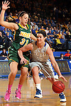 BROOKINGS, SD - FEBRUARY 22:  Steph Paluch #15 from South Dakota State University drives against Alisa Brown #31 from North Dakota State University in the first half of their game Saturday afternoon at Frost Arena in Brookings.  (Photo by Dave Eggen/Inertia)