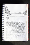 Sucia Island, San Juan Islands, Shallow Bay, Journal Art 2009, ink on paper,