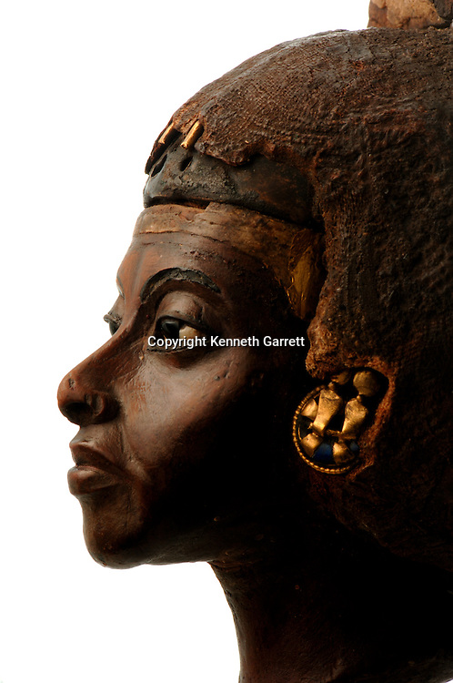Berlin Museum, Nubian Pharaohs, Tiye figure, wife of Amenhotep III, 11th Dynasty, Middle Kingdom - MUSEUM PERMISSION NEEDED
