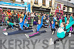 Rachel Murphy and Aoiffe Clifford from Currpw Gymnastis performing ..at the Killarney St Patricks Day parade on Sunday ..