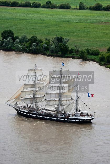 Europe/France/Aquitaine/33/Gironde/ Vue aérienne Estuaire de la Gironde