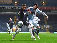 Blackburn Rovers' Danny Graham battles with Derby County's Jayden Bogle<br /> <br /> Photographer Dave Howarth/CameraSport<br /> <br /> The EFL Sky Bet Championship - Blackburn Rovers v Derby County -Tuesday 9th April 2019 - Ewood Park - Blackburn<br /> <br /> World Copyright &copy; 2019 CameraSport. All rights reserved. 43 Linden Ave. Countesthorpe. Leicester. England. LE8 5PG - Tel: +44 (0) 116 277 4147 - admin@camerasport.com - www.camerasport.com