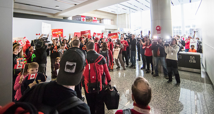 PyeongChang 19/3/2018 - Team Canada travels to Calgary and a homecoming reception at YYC following the 2018 Winter Paralympic Games in Pyeongchang, Korea. Photo: Dave Holland/Canadian Paralympic Committee